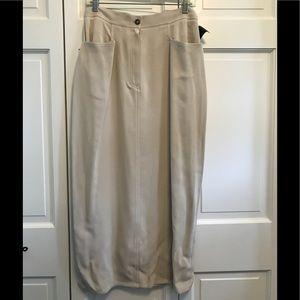 Liz Claiborne Collection Tan Silk Skirt